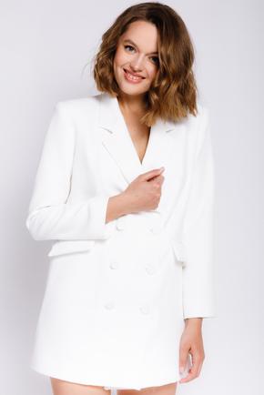 Белое платье-пиджак с длинным рукавом в прокат и аренду в Киеве. Фото 1