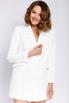 Белое платье-пиджак с длинным рукавом в прокат и аренду в Киеве, Одессе, Харькове. Фото 1