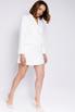 Белое платье-пиджак с длинным рукавом в прокат и аренду в Киеве. Фото 2