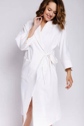 Плаття-кімоно міді з довгим рукавом молочного кольору в прокат и oренду в Киiвi. Фото 2