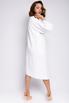 Платье-кимоно миди с длинным рукавом молочного цвета в прокат и аренду в Киеве. Фото 4