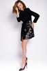 Платье-смокинг с отрезной талией, рукавом и пайетками черного цвета в прокат и аренду в Киеве. Фото 6