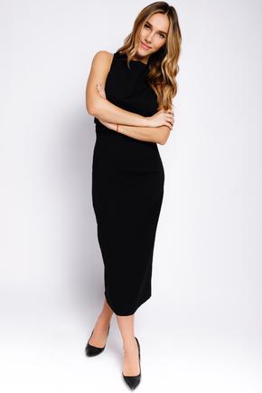 Чорна сукня-футляр міді з перекриттям на спині в прокат и oренду в Киiвi. Фото 2