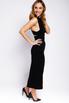 Черное платье-футляр миди с захлестами на спине в прокат и аренду в Киеве. Фото 1