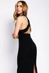 Черное платье-футляр миди с захлестами на спине в прокат и аренду в Киеве. Фото 3