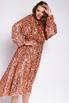 Платье миди из пайеток цвета розовое золото с открытой спиной в прокат и аренду в Киеве. Фото 5