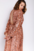 Платье миди из пайеток цвета розовое золото с открытой спиной в прокат и аренду в Киеве. Фото 2