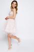 Нежно-розовое пышное платье мини расшитое цветами в прокат и аренду в Киеве. Фото 4