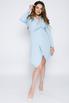 Голубое платье-пиджак с ассиметричным низом в прокат и аренду в Киеве. Фото 2