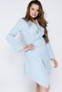 Голубое платье-пиджак с ассиметричным низом в прокат и аренду в Киеве. Фото 1
