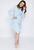 Голубое платье-пиджак с ассиметричным низом в прокат и аренду в Киеве. Фото 3