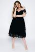 Черное платье миди из кружева в прокат и аренду в Киеве. Фото 4