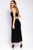 Платье-корсет длины  миди черного цвета с разрезом в прокат и аренду в Киеве. Фото 4
