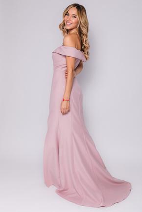 Рожеве плаття в підлогу зі спущеними плечима в прокат и oренду в Киiвi. Фото 2