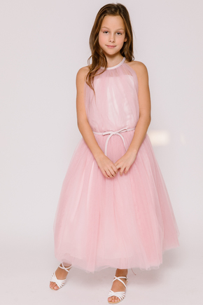 Пишне дитяче плаття ніжно-рожевого кольору в прокат и oренду в Киiвi. Фото 1