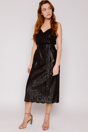 Плаття-комбінація чорного кольору з паєток в прокат и oренду в Киiвi. Фото 1