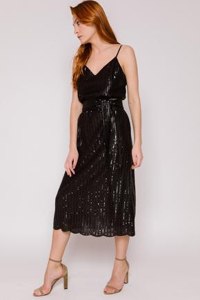 Плаття-комбінація чорного кольору з паєток в прокат и oренду в Киiвi. Фото 2