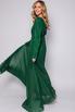 Длинное зеленое платье с плиссировкой в прокат и аренду в Киеве, Одессе, Харькове. Фото 3