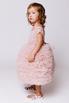 Детское пудровое платье из фатина с пышной юбкой в прокат и аренду в Киеве. Фото 3