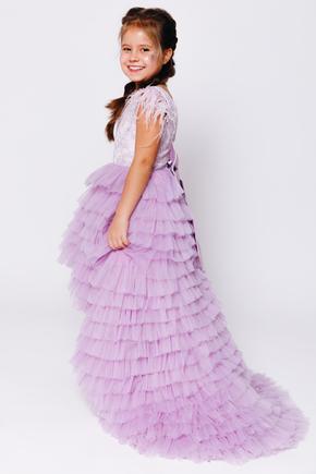 Дитяче багатошарове плаття лавандового кольору в прокат и oренду в Киiвi. Фото 2