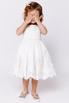 Детское белое атласное платье с бисером и кружевом в прокат и аренду в Киеве. Фото 1