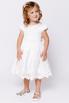 Детское белое атласное платье с бисером и кружевом в прокат и аренду в Киеве. Фото 3