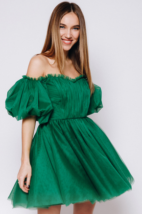 Зелена сукня міні з фатину в прокат и oренду в Киiвi. Фото 2