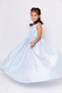 Детское голубое платье в пол с поясом в прокат и аренду в Киеве. Фото 4