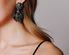 Крупные круглые серьги с синими и голубыми камнями в прокат и аренду в Киеве, Одессе, Харькове. Фото 1