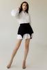 Платье-рубашка белого цвета со съемной черной баской в прокат и аренду в Киеве. Фото 2