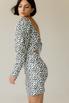 Черно-белое принтовое платье мини с открытой спиной в прокат и аренду в Киеве. Фото 3