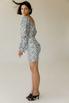 Черно-белое принтовое платье мини с открытой спиной в прокат и аренду в Киеве. Фото 4