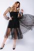 Комбиниованное черное платье из фатина со сьемным топом в прокат и аренду в Киеве. Фото 1