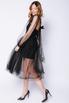 Комбиниованное черное платье из фатина со сьемным топом в прокат и аренду в Киеве. Фото 2