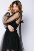 Комбиниованное черное платье из фатина со сьемным топом в прокат и аренду в Киеве. Фото 4
