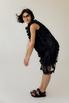 Двухслойное полупрозрачное платье с цветочными аппликациями в прокат и аренду в Киеве. Фото 3