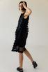 Двухслойное полупрозрачное платье с цветочными аппликациями в прокат и аренду в Киеве. Фото 5