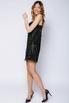Черное корсетное платье мини из камней в прокат и аренду в Киеве, Одессе, Харькове. Фото 1