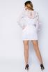Белое платье мини из сетки с перьями и камнями в прокат и аренду в Киеве. Фото 3