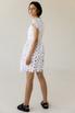 Белое платье мини из цветочных аппликаций в прокат и аренду в Киеве, Одессе, Харькове. Фото 4