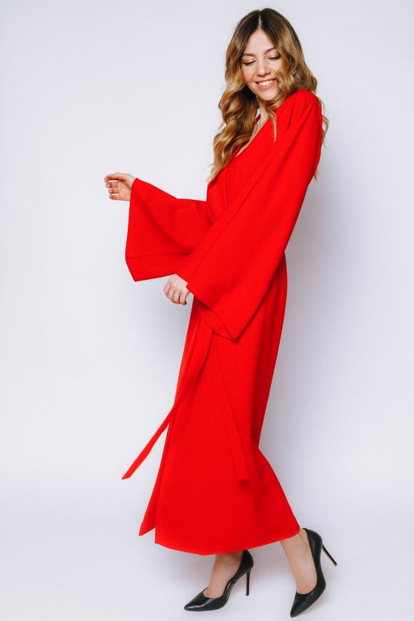 Красное платье-кимоно на запах в прокат и аренду в Киеве, Одессе, Харькове. Фото 2