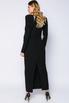 Чёрное платье длины миди с фигурным декольте в прокат и аренду в Киеве. Фото 4