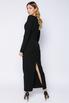 Чёрное платье длины миди с фигурным декольте в прокат и аренду в Киеве. Фото 5