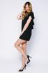 Черное платье-мини с сеткой и декором из камней в прокат и аренду в Киеве. Фото 3
