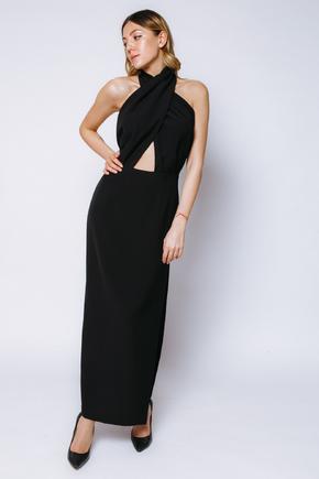 Чорна сукня-хомут з розрізом збоку в прокат и oренду в Киiвi. Фото 2