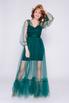 Комбинированное зеленое платье в прокат и аренду в Киеве, Одессе, Харькове. Фото 1