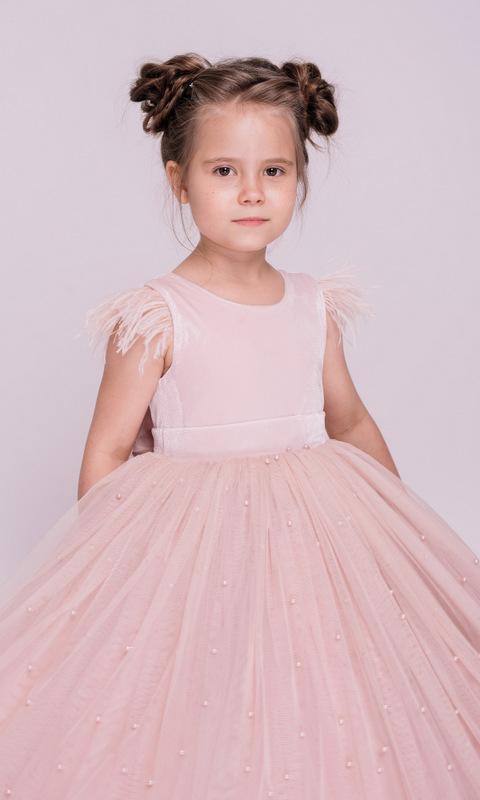 Детское розовое платье с бусинами в прокат и аренду в Киеве, Одессе, Харькове. Фото 2