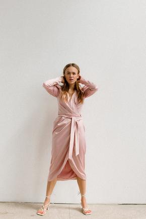 Рожева сукня з рукавом буф в прокат и oренду в Киiвi. Фото 2