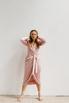 Розовое платье на запах с рукавом буф в прокат и аренду в Киеве. Фото 2