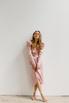 Розовое платье на запах с рукавом буф в прокат и аренду в Киеве. Фото 3